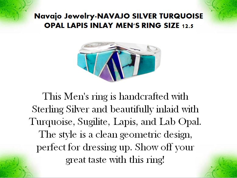 Navajo Jewelry-NAVAJO SILVER TURQUOISE OPAL LAPIS  by mesaverde1