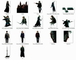 Harry Potter Character set #1 png by HogwartSite
