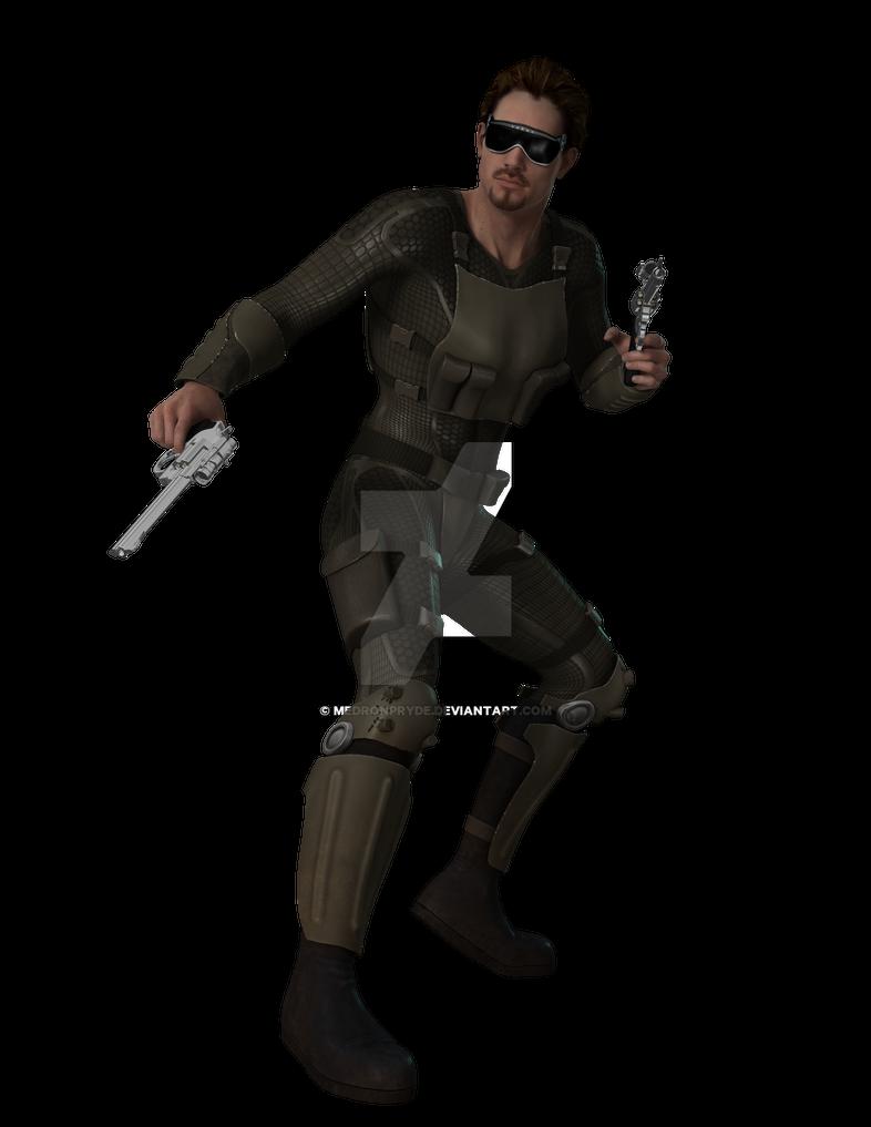 Jesse in light armor by MedronPryde