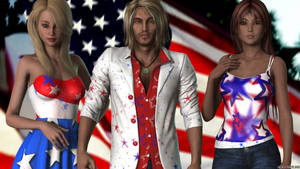 Fourth of July 2018 - Jack, Betty, and Jasmine by MedronPryde