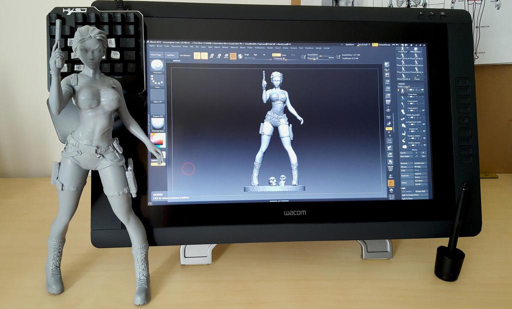 Lara Croft Tomb Raider resin statue wip   by Art-Of-Chiara on DeviantArt