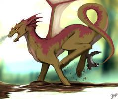 It's a Dragon But Honey Badger Don't Care by GrimweaverArt
