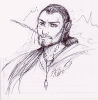 Ethaniel 'Dragonborn' LaChance by GrimweaverArt