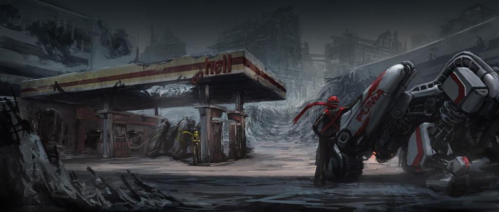 abandoned.petrol.station by kiiiat