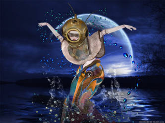 A Surrealistic Swim In The Moonlight by wiseSandalwood