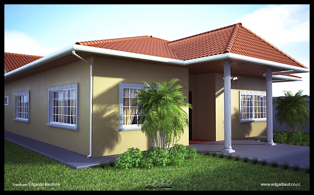 Render exteriores casas taringa for Exterior de casas
