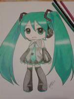Chibi Miku :D by shirayukime