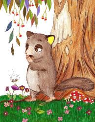 Mister Possum Yawns by redmatilda