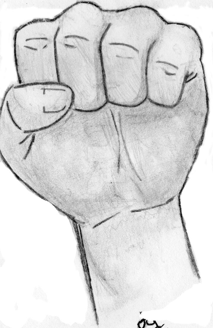 Fist drawing by jurrellgraham