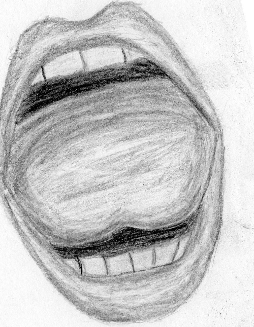 Pencil Drawing Of A Mouth by JurrellGraham on DeviantArt