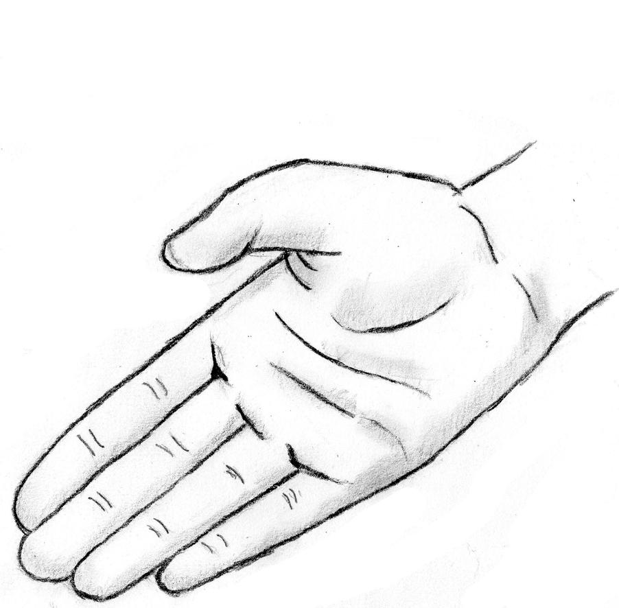 Drawing of a hand by jurrellgraham on deviantart for Easy hand drawings