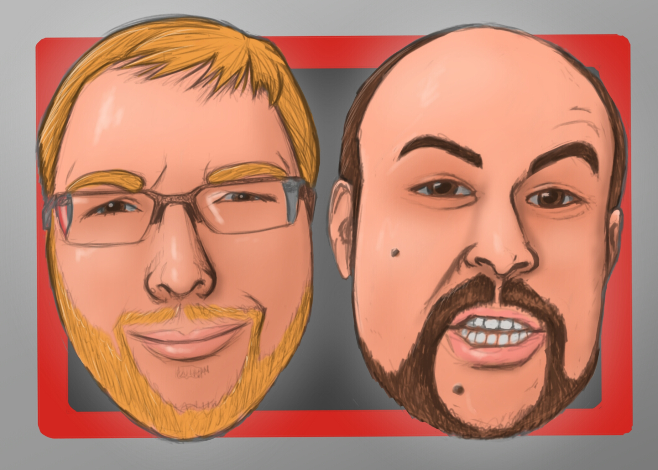 Total Biscuit and Jesse Cox by Kaito85