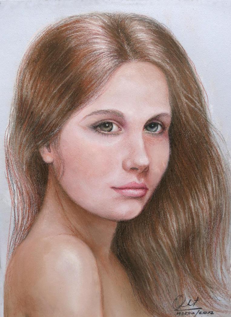 Girl with long hair - Mujer con el cabello largo by labatstudio