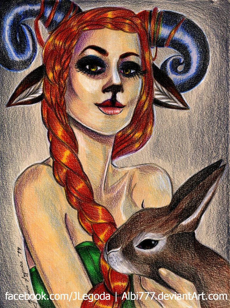 Deer lady by Albi777