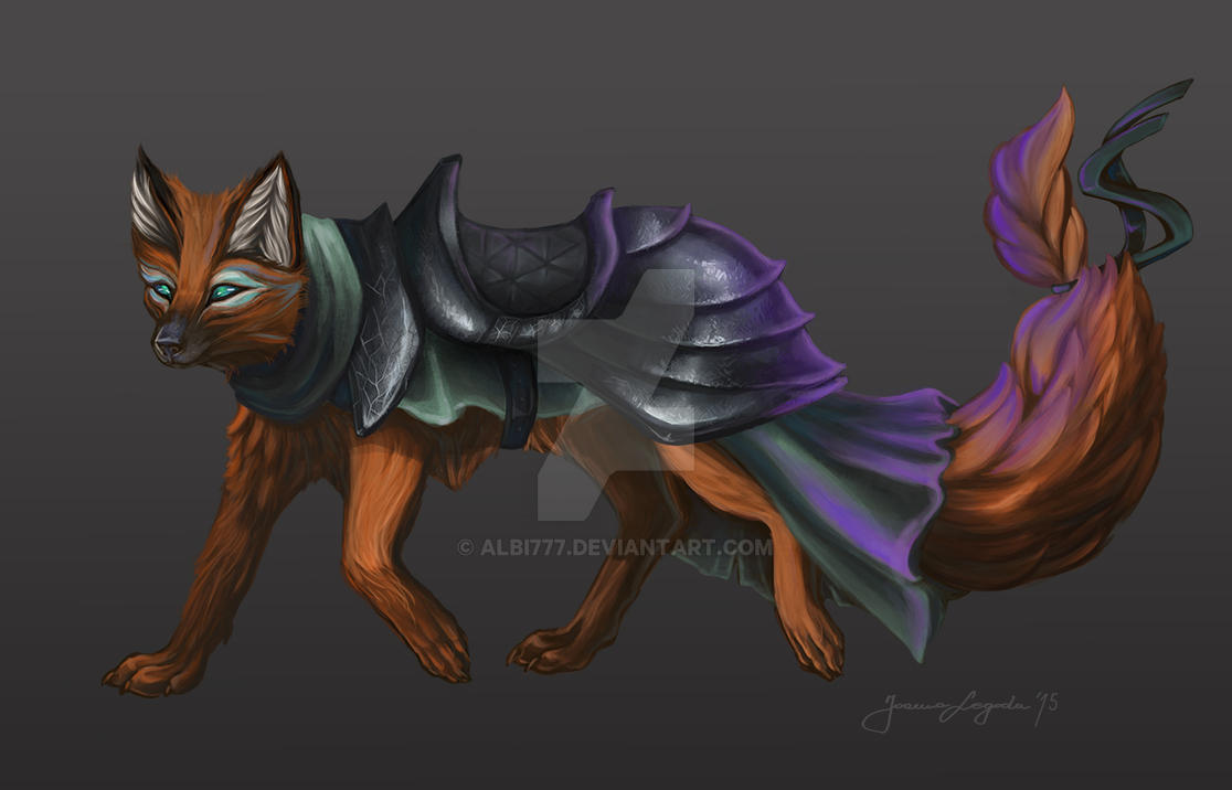 Little magic fox by Albi777