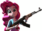 Pinkie with an AK
