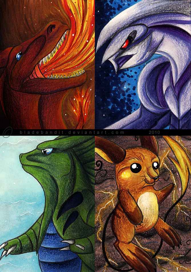 Pokemon ACEOs by bladebandit