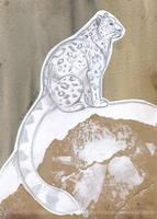 Snow Leopard Sketch by Bandarai