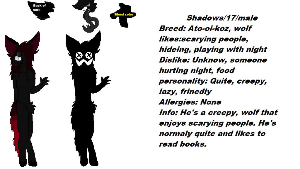 Shadow Ref Sheet by Isabellatheshino