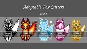 Adoptable Fox Critters [Open]