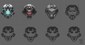 concept futuristic helmets