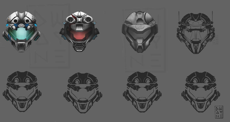 concept futuristic helmets by dwayned3