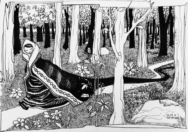 in the woods by Corianten
