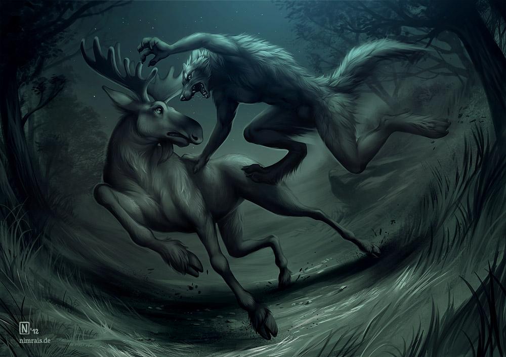 Moonlight Battle by Nimrais