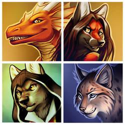 Icons - Daloon, Raitsh, Kuro, Tchitcherine