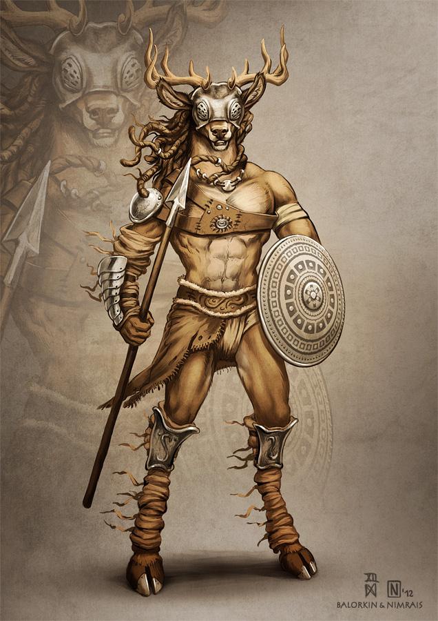 Deer Gladiator (Collab) by Nimrais