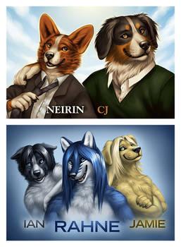 Badges - Neirin, CJ, Rahne