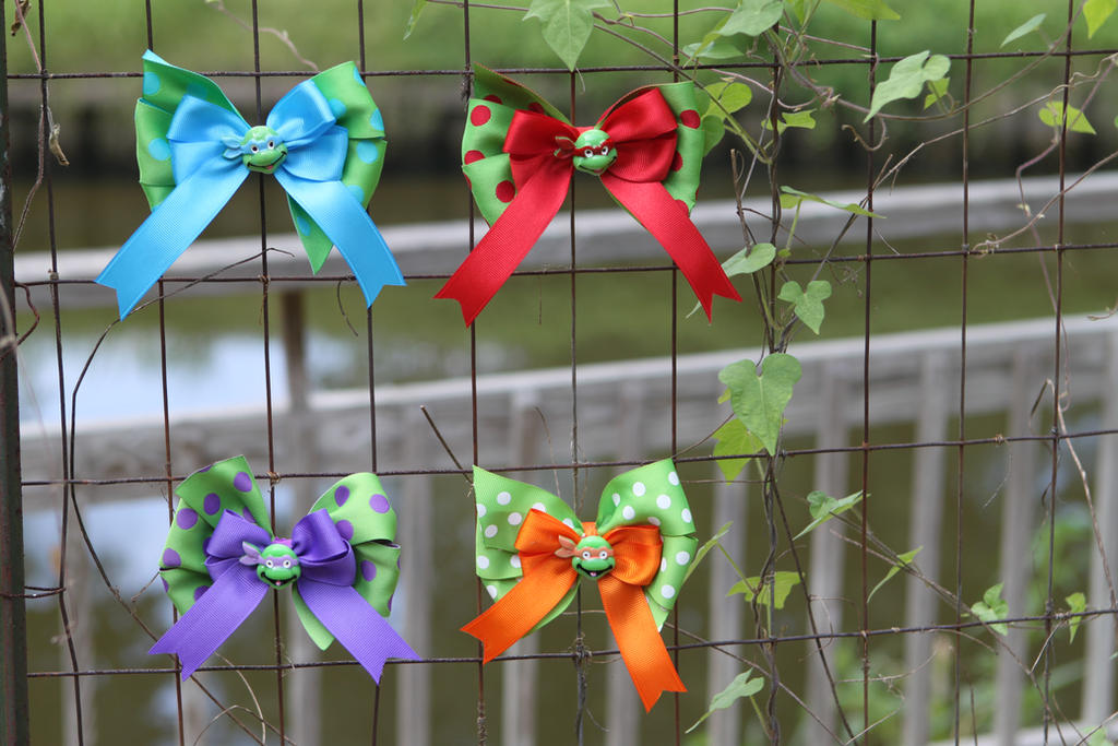 Teenage Mutant Ninja Turtles TMNT Hair Bow Pack by Shezu-Rivera