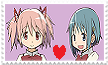 Madoka X Sayaka Stamp