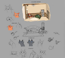 Cat Sketches by issique