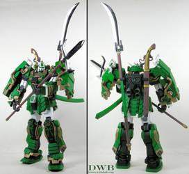 Musha Gundam Green 1 by Bang-Doll-SSI