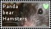 Panda bear hamsters stamp by Qythe