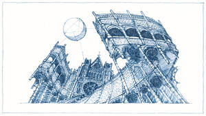 Abstract gothic architecure