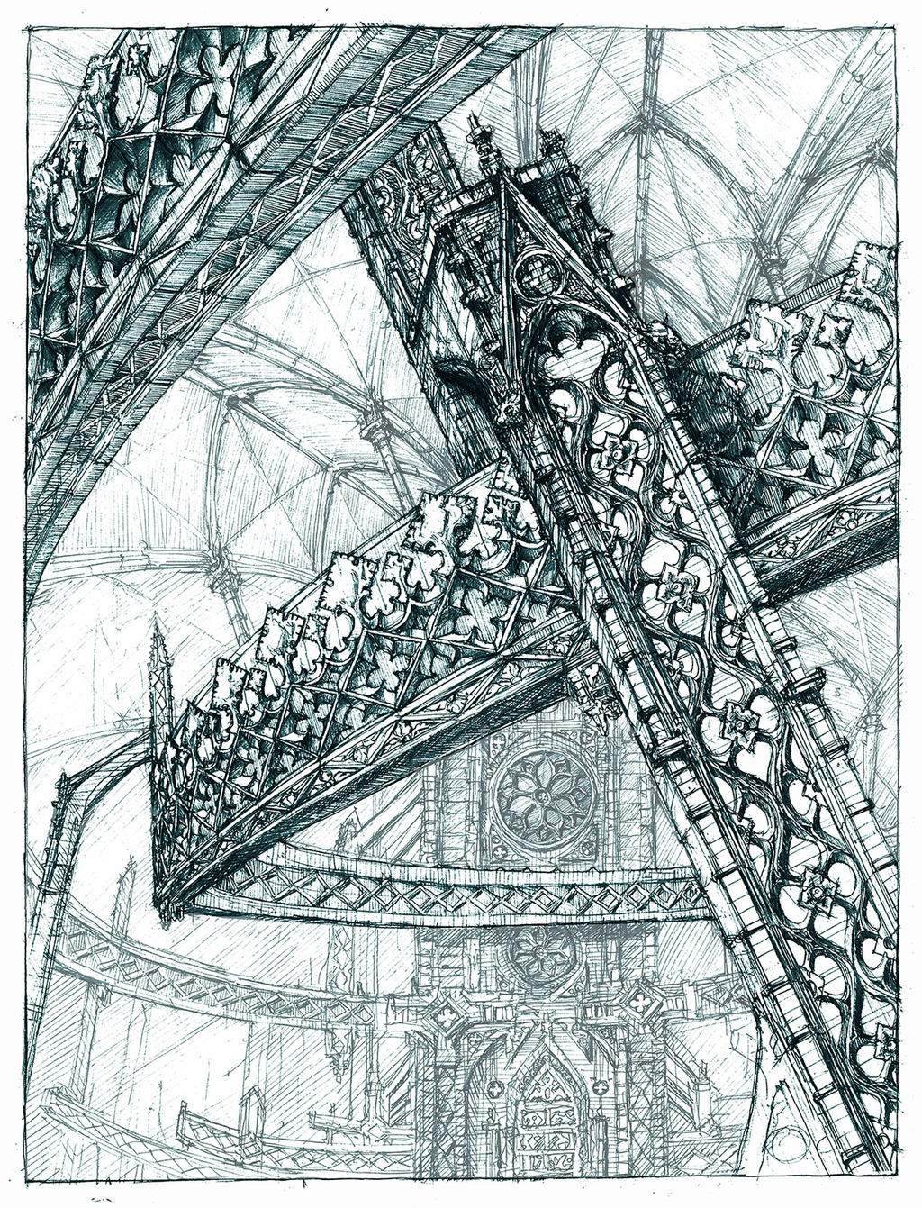 Abstract gothic structure