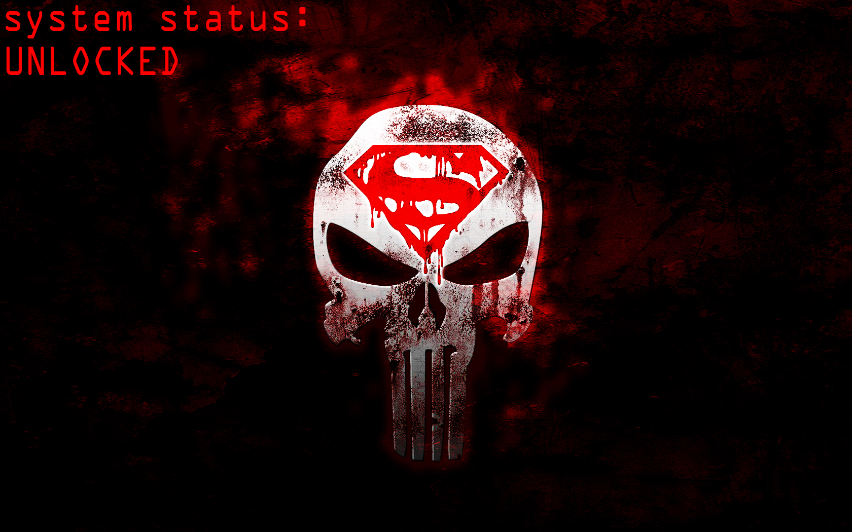 superman/punisher logo wallpapers1nwithm3 on deviantart