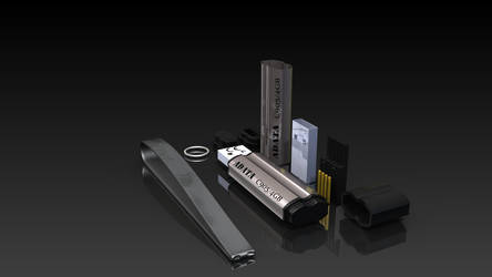 USB Flash Drive another material