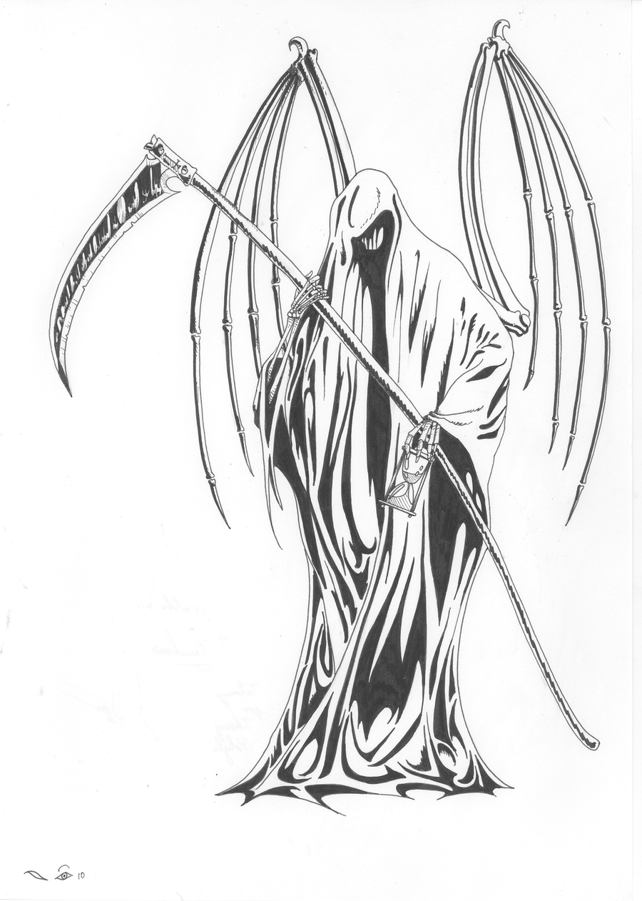grim reaper tatoo by emalterre grim reaper tatoo by emalterre