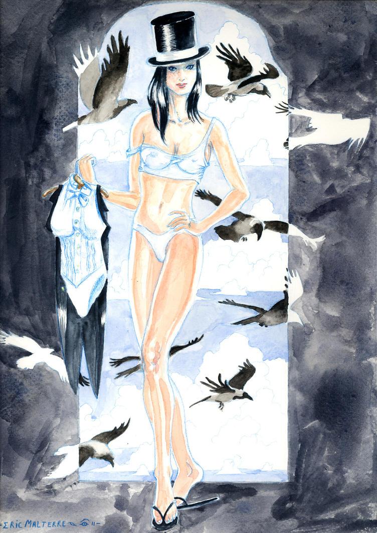 Zatanna and jackdaws by emalterre