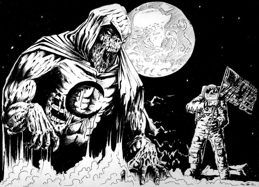 DND Paris : Moon Knight Zombie by emalterre