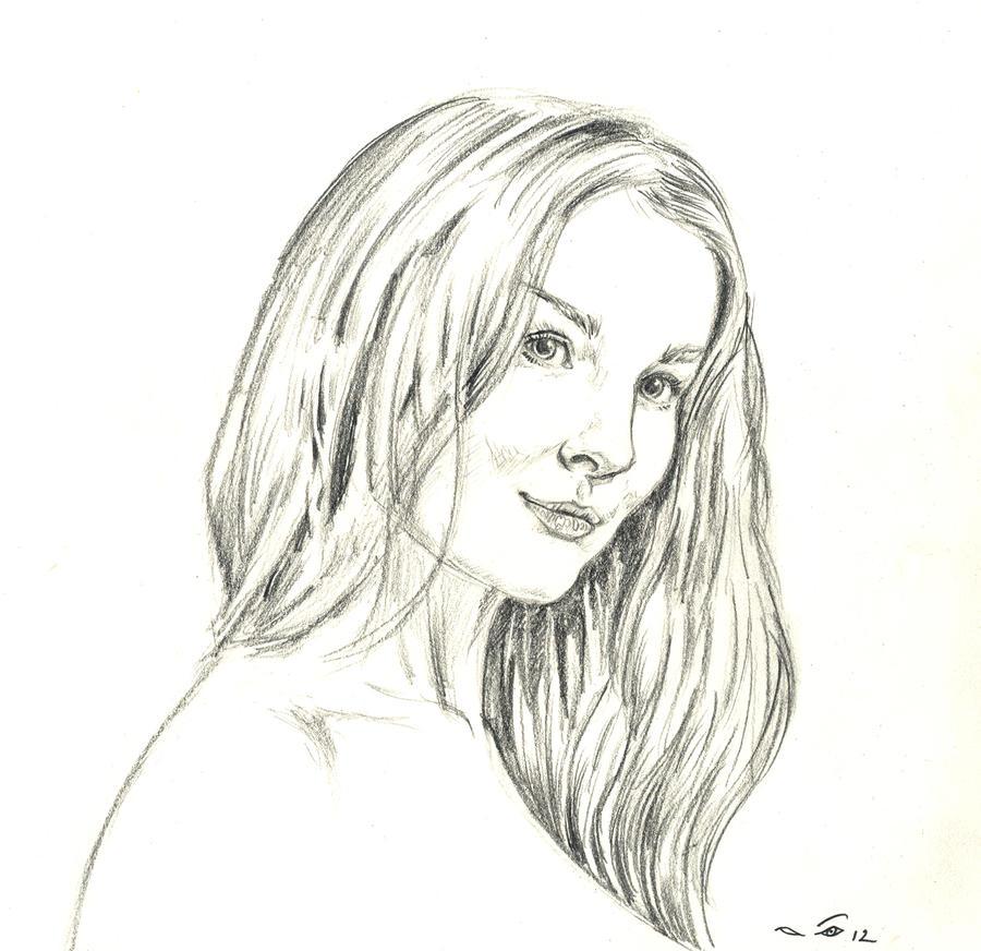 Female portrait by emalterre