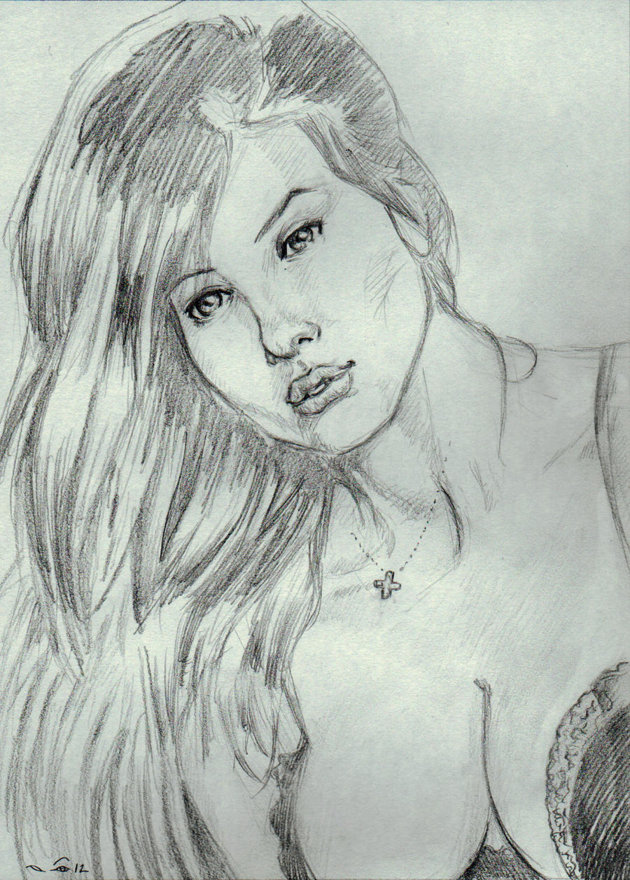 Female portrait II by emalterre