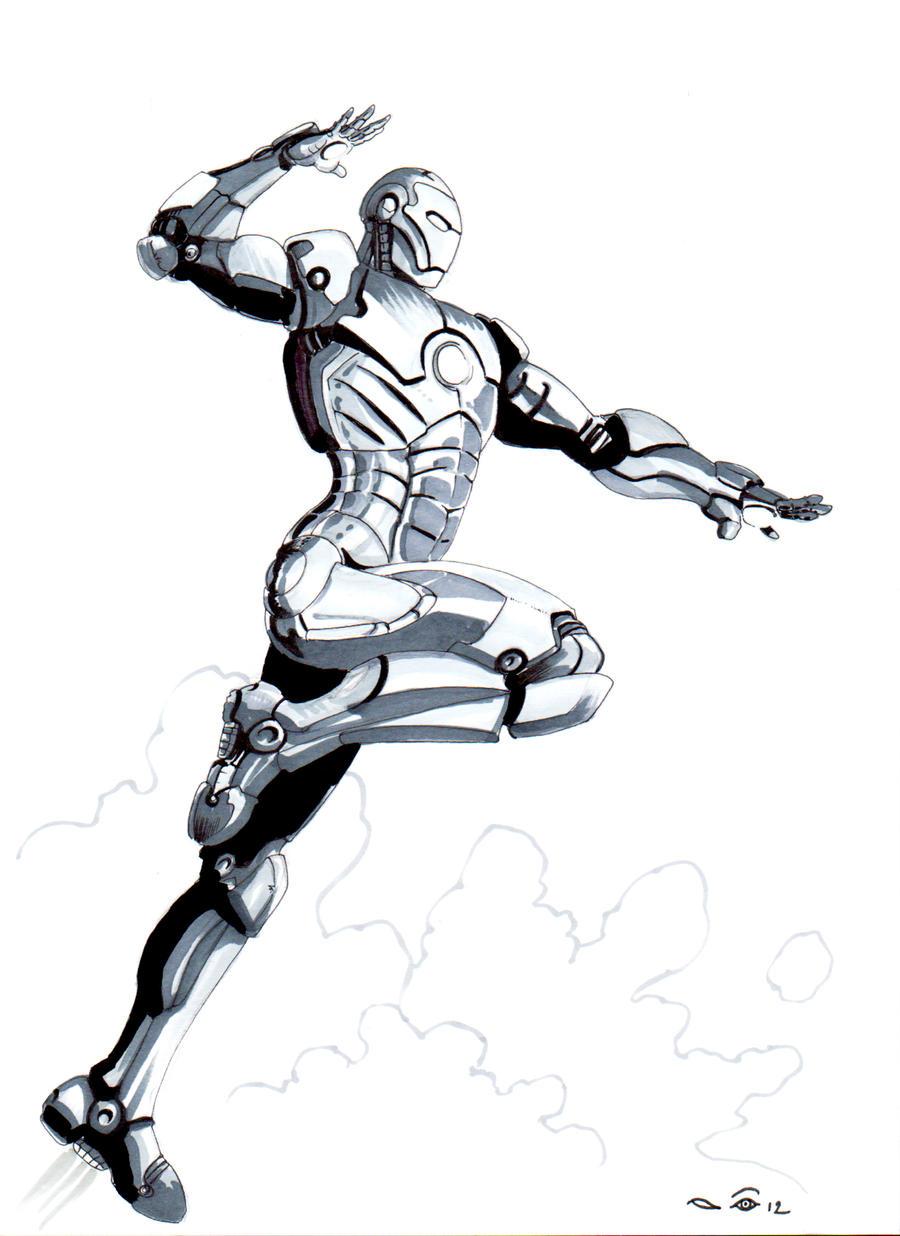 Grey Iron Man by emalterre