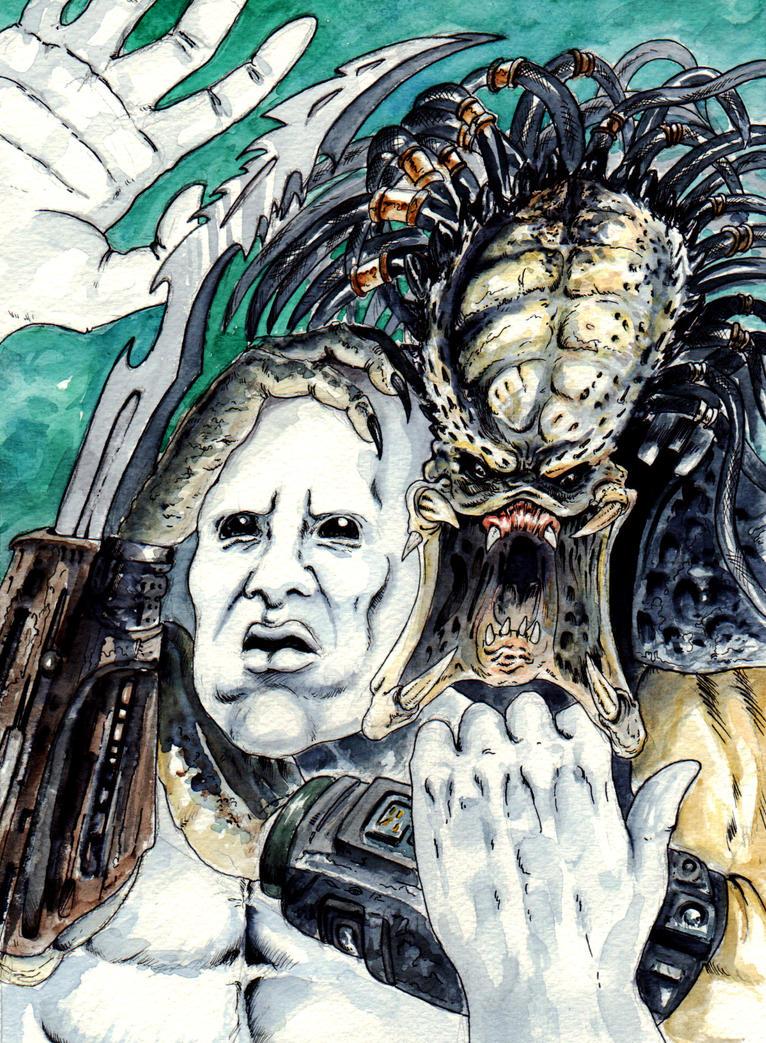 DND Paris : Predator Vs Space Jockey by emalterre