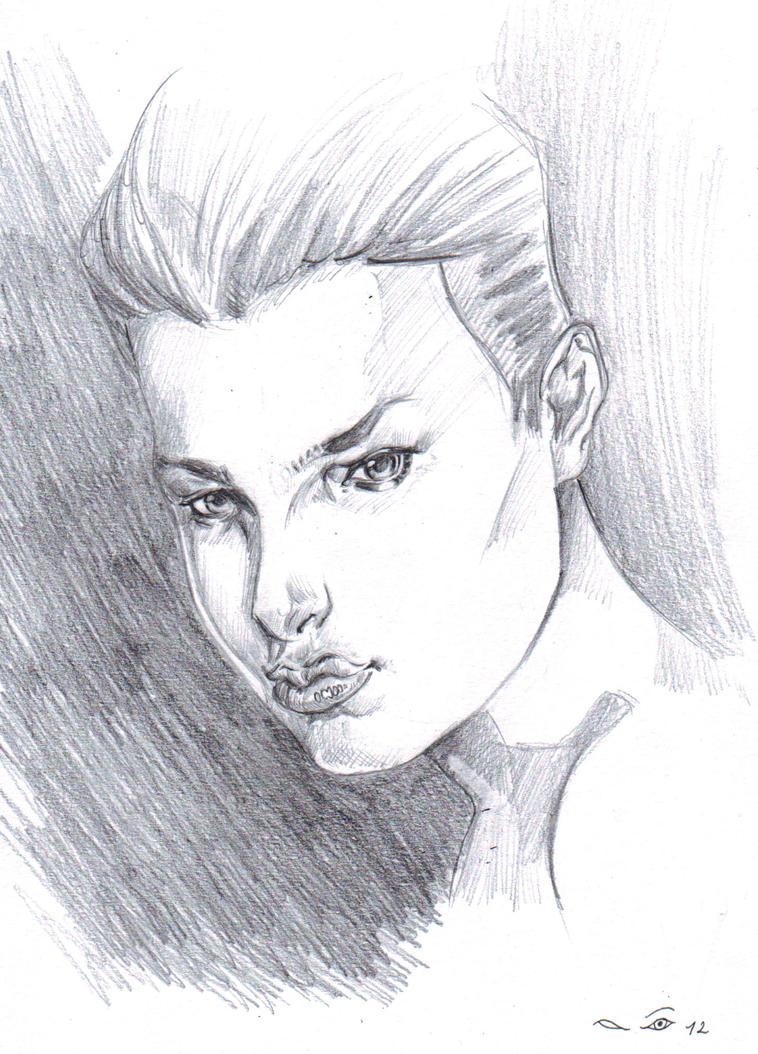 Female Portrait VI by emalterre