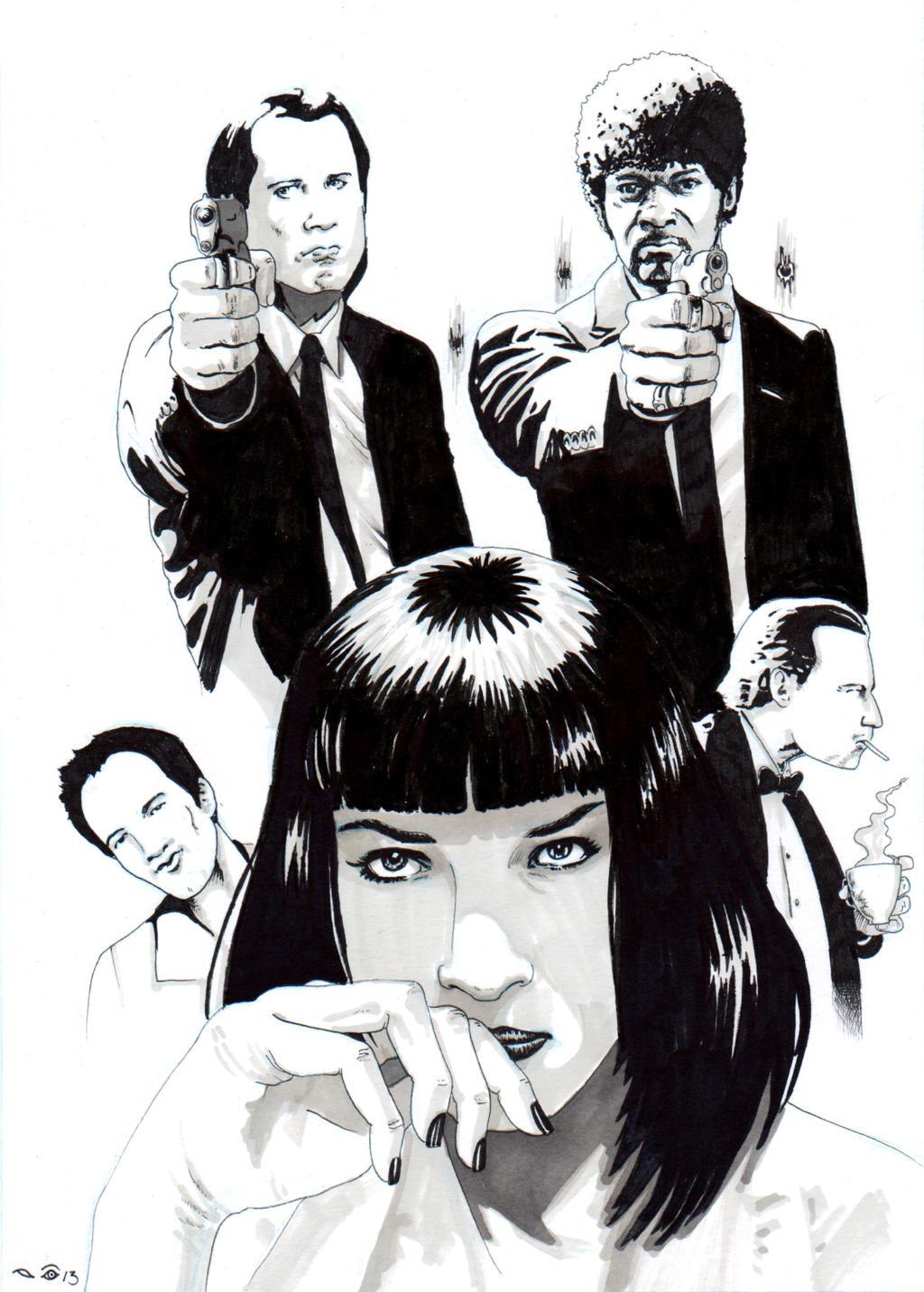 DND Paris : Pulp Fiction by emalterre
