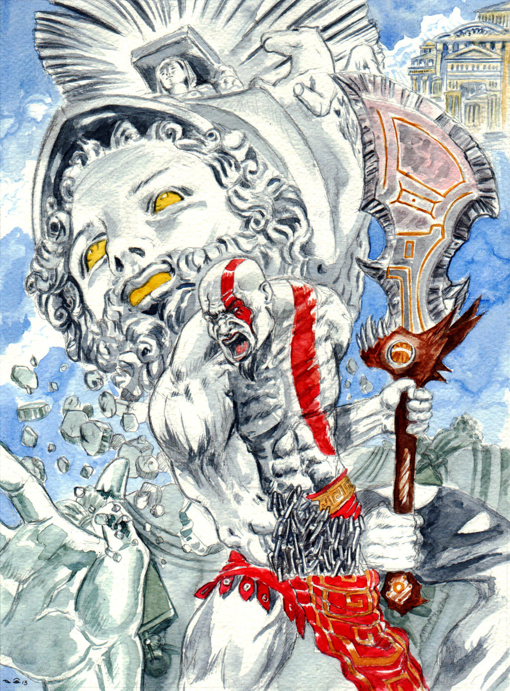 DND Paris : God of War by emalterre